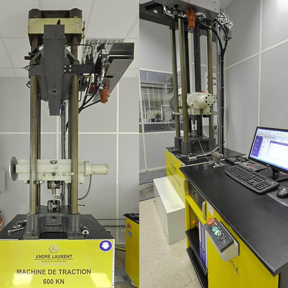 Tensile test device Amsler 60T