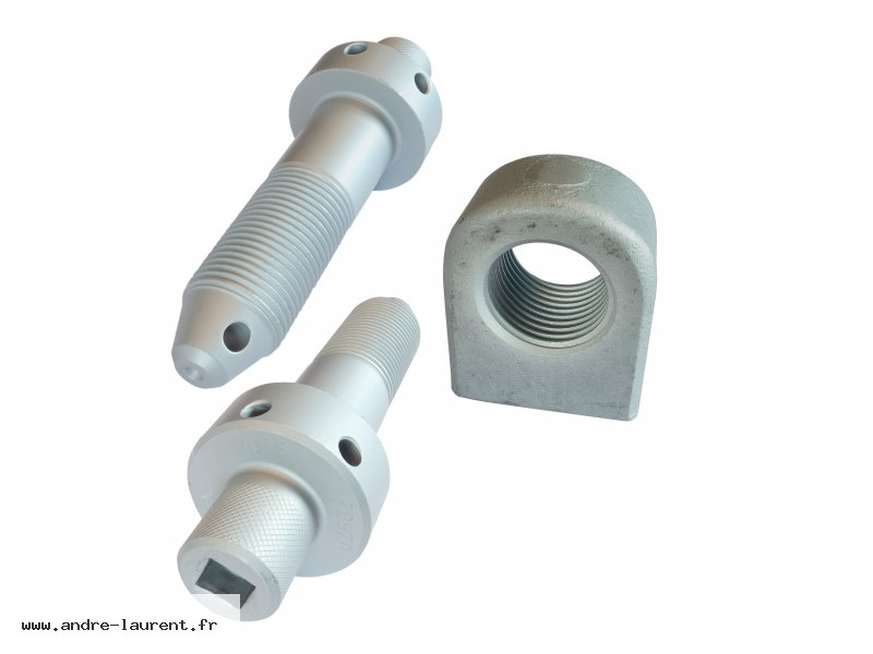 CONNECTING SCREW M36X126 AND NUT FOR FISHPLATE 58X35X71