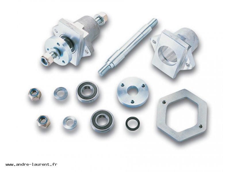 Tapered tyre shaft assembly: M30/40x325 Aluminium casing : Ø 125x150 Clamp: Ø 315x125/20 Flange: Ø 125x40X25